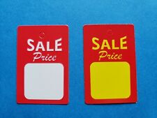 Unstrung Sale Price Tags Red White Yellow Small Retail Merch Coupon No String