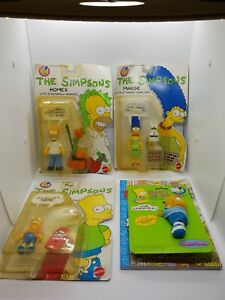 The-Simpson-039-s-Vintage-1990-Mattel-Action-Figure-Lot-Bart-Homer-Marge-Xtras
