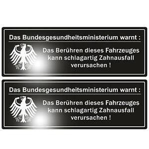 2-x-Das-Bundesgesundheitsministerium-warnt-Aufkleber-Sticker-Auto-Tuning-OEM-JDM