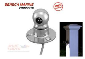 8x SENECA Marine Tri-Ball Surface Mount LED Light 316 Stainless 12V S0803-1000