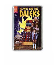 RETRO 1960's -DOCTOR WHO and The DALEKS COMIC COVER JUMBO FRIDGE /LOCKER MAGNET