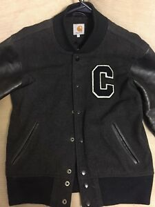 7d5c3568dd9 Image is loading Carhartt-Varsity-Jacket-Medium-WIP-Letterman-Coat