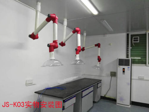 PP Exhaust Vent Extractor Fume Dome Hood 3 Sections Univeral Lab Labroary Fan