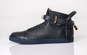 842ec5161fd Image is loading Buscemi-100mm-High-Top-Leather-Sneaker-With-Padlock-