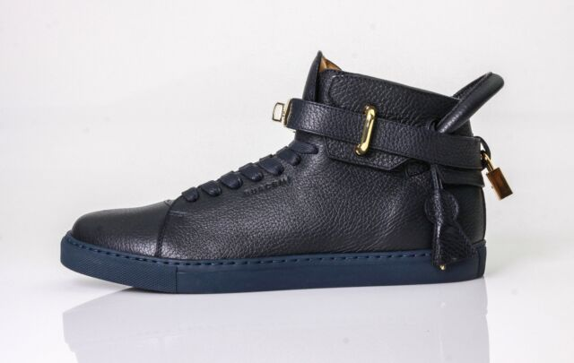 With Sneaker Leather 8284 High Buscemi Mens 100mm Padlock Size Top v0OymwPnN8