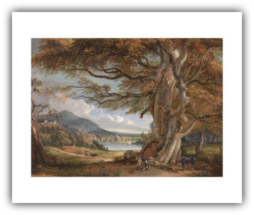 "c.1801 Shropshire/"" Paul Sandby : /""Bridgenorth — Giclee Fine Art Print"