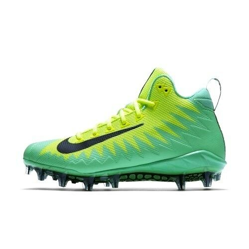 Nike Alpha Menace Pro Mid Football Cleats Sz 13 Volt Green Shoes