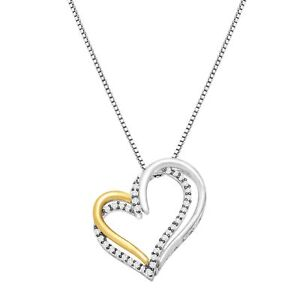 1-4-ct-Diamond-Open-Heart-Pendant-in-Sterling-Silver-amp-14K-Gold
