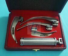 Laryngoscope Macintosh Intubation Set Of 4 Blades And One Handle Emt Anesthesia
