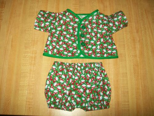 """SNOWMAN SNOWMEN CHRISTMAS PJS for 12-15/"""" CPK Cabbage Patch Kids Preemie baby"""