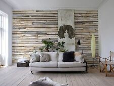 Wallpaper WHITEWASHED WOOD photo wall mural Large size Wall Art WOODEN WALL