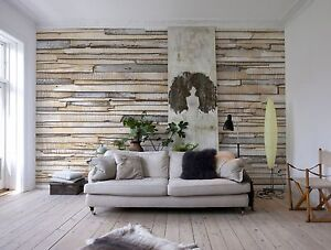 Wallpaper Whitewashed Wood Photo Wall Mural Large Size Wall Art
