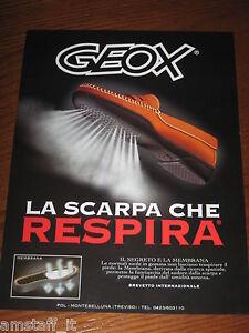 Détails sur *AO40=GEOX SCARPE=PUBBLICITA'=ADVERTISING=WERBUNG=COUPURE=
