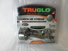 TRUGLO Carbon XS Xtreme 5 Pin Compound Bow Sight Lost Camo .019 TG5805L