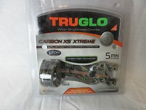 Truglo-Carbon-XS-Xtreme-5-pin-Mathews-Lost-camo-Bow-Sight-Left-Right-Hand