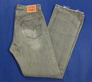 Levis-508-W33-L34-tg-47-jeans-uomo-usato-gamba-dritta-denim-boyfriend-T4020