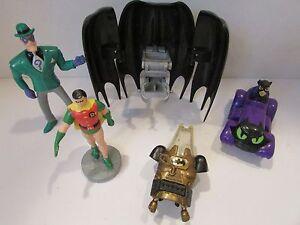 DC COMICS 1990'S ASST OF BATMAN FIGURES & ACCESS ROBIN CATWOMAN RIDDLER L133