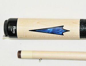 Viking Pool Cue Vikore Shaft Billiards Custom Blue Pearl