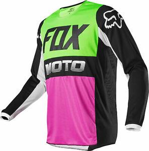 Fox Racing Mens Black Airline Dirt Bike Jersey MX ATV 2020