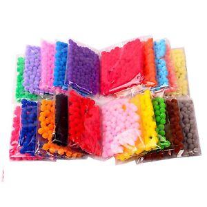 Pom-Poms-Small-10mm-1cm-Choose-Colour-amp-Quantity-UK-Seller-Craft-Pompom