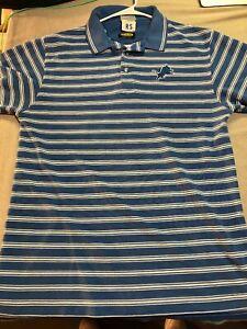 Vintage-90s-Detroit-Lions-Reebok-NFL-Pro-Line-Polo-Shirt-Men-039-s-Large-Blue