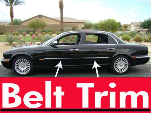 Jaguar XJ8 CHROME SIDE BELT TRIM DOOR MOLDING 2002 2003 2004 2005 2006 2007 2008