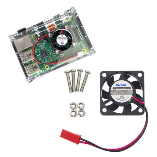 DC 5V 0.2A Cooler Cooling Fan for Raspberry Pi Model B+ Raspberry Pi 2//3  Sq