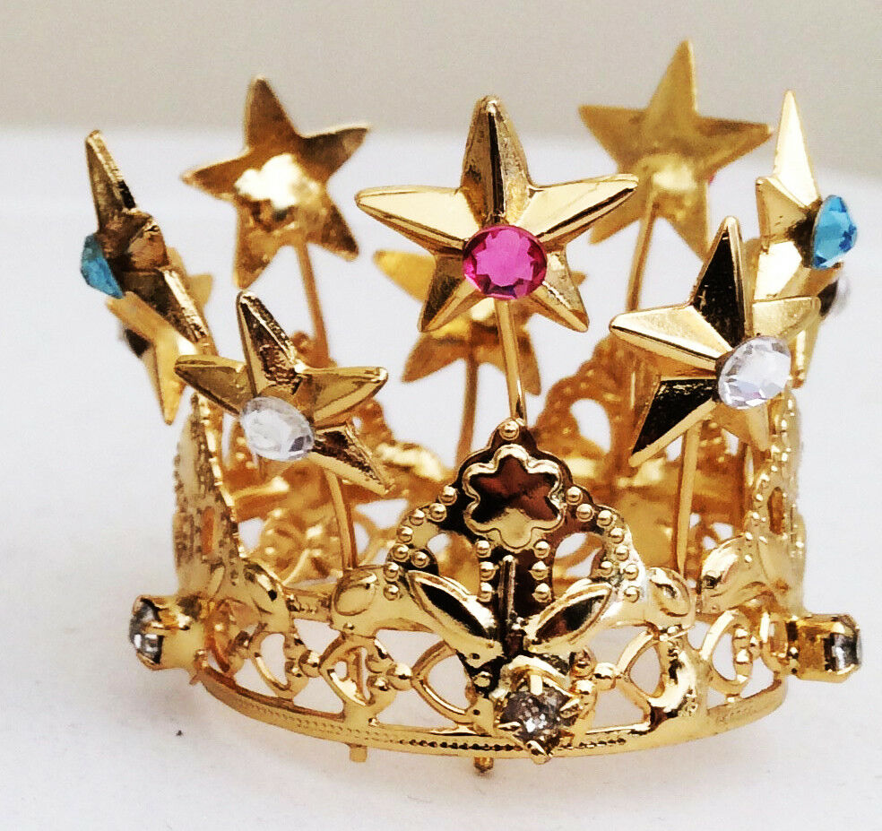 Krone Regal Messing Messing Messing im Badezimmer Gold mit Strass - Royal CROWN | Neues Produkt