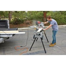Heavy Duty Mobile Miter Saw Stand Support 16 ft. Lumber 400 lb. Capacity Tool