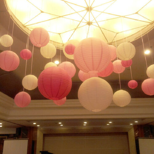 Mixed New Round Paper Lanterns Lamp Shade Wedding Birthday Party Events