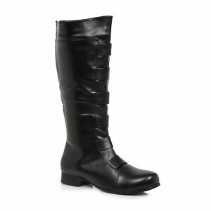 Ellie 121-MARC Men's Black Super Hero Marvel Costume Cosplay Knee High Boots