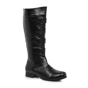 Ellie-121-MARC-Men-039-s-Black-Super-Hero-Marvel-Costume-Cosplay-Knee-High-Boots