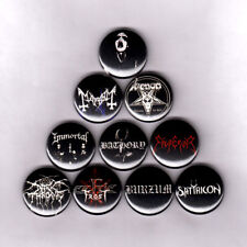 BLACK METAL PINS / BUTTONS mayhem bathory darkthrone venom celtic frost emperor