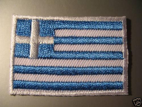 Sew On Patch Badge Σημαία Ελλάδα ελληνικά Ελληνική GREECE GREEK FLAG Iron On