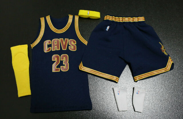 designer fashion 3cc78 ce51c Custom 1/6 Lebron James Cavs Jersey 23 Cavaliers NBA Road Navy Fit Enterbay