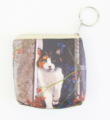 Cat Small Coin Purse Approx 10cm H x 10cm Choose from 6 Designs