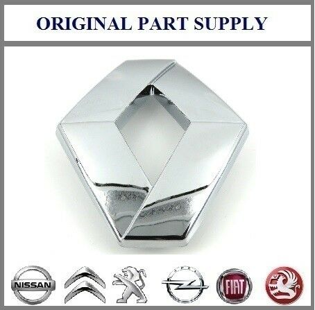 Genuino Nuevo Renault Bonnet insignia emblema Clio 1998-01 Laguna 2001-05 Megane 99-02