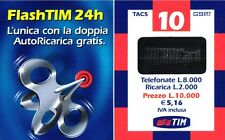 1574 SCHEDA RICARICA USATA TIM 10 FLASH FT-P APR.2003 OCR 16 CAB 28