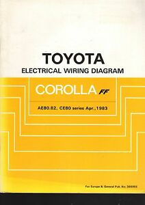 Surprising Toyota Corolla Ae80 82 Ce80 Series April 1983 Electrical Wiring Wiring Digital Resources Arguphilshebarightsorg