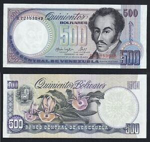 Venezuela 500 bolivares 1987 FDS/UNC  C-09