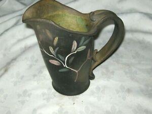 A-Vintage-Australian-Peter-Harris-Studio-Pottery-Handpainted-Gumleaf-Picture-Jug