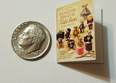 Miniature Dollhouse  Barbie 1//12 Scale Book Teddy Bear Children Toy book