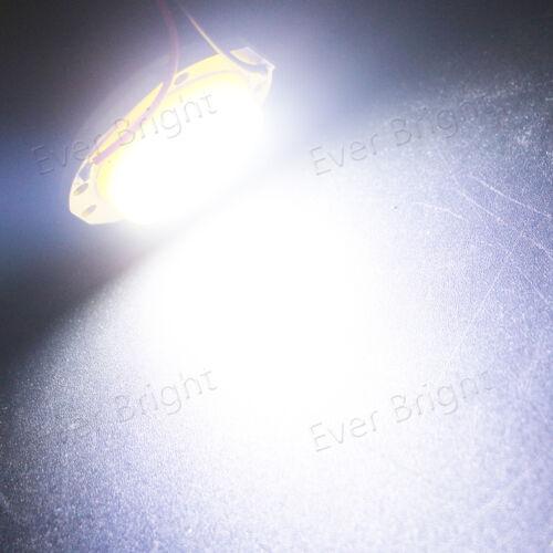 100Pcs COB 15SMD LED T10 Festoon Dome Car Interior Door Map Panel Light 12V 24V