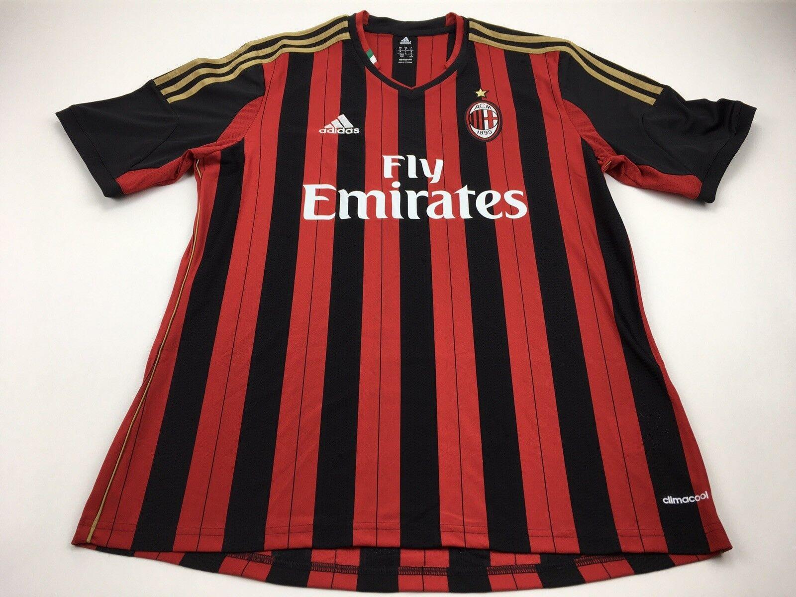 a6caab5d592 AC MILAN Adidas Fly Emirates Soccer ACM ITALY size L jersey Futbol  nsmxum19929-Activewear Tops