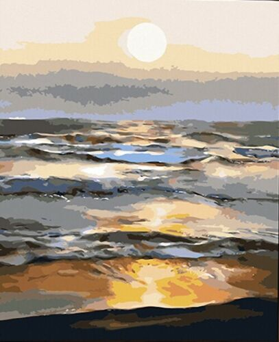 Fabulous Sunrise from Cloud Sea HP Design Printed Needlepoint Canvas C#100