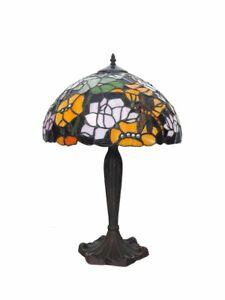 Lampe Leuchte Tischlampe Tischleuchte im Tiffany-Stil Libelle  H: 61 cm (9429)