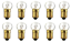 Box of 10 #407 Blinking Lamp Bulb Flashing Lightbulbs 4.9V 1.47W 0.3A