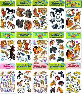 Pferde Und Einhorner Kinder Tattoo Und Sticker Von Lutz Mauder Zum