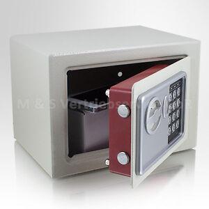 mini tresor zahlenschloss elektronisch minisafe wandtresor wandsafe grau safe. Black Bedroom Furniture Sets. Home Design Ideas