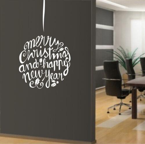 vetrofanie wall sticker adesivo per vetrine ufficio casa negozio sfera di Natale